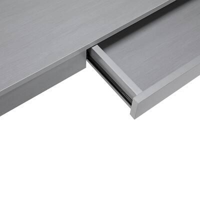 47 in. Rectangular Gray Standing Desks with Adjustable Height