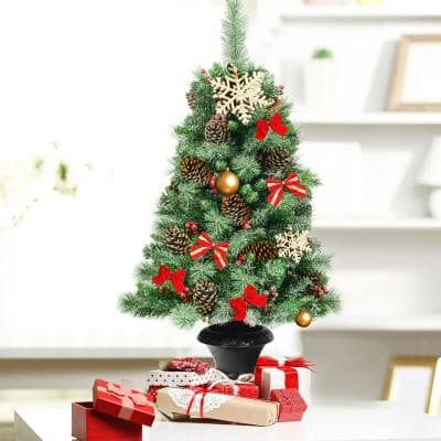 4 ft. Unlit Slim Fraser Fir Artificial Christmas Tree with 187 Tips