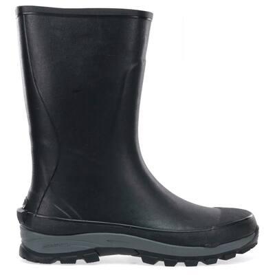 Men's Premium Rubber Tall Boot - Black Size 8