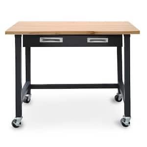 Ultragraphite Wood Top Workbench on Wheels