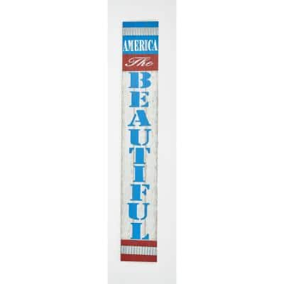 29 in. America The Beautiful Wood Sign