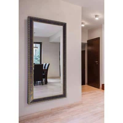 Oversized Rectangle Cracked Bronze Classic Mirror (78 in. H x 39 in. W)