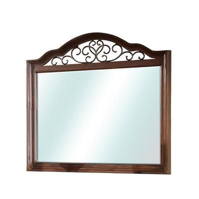 Large Rectangle Antique Dark Oak Antiqued Classic Mirror (41.5 in. H x 43 in. W)