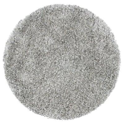 Urban Dazzle Gray 3 ft. Solid/Gradient Round Area Rug