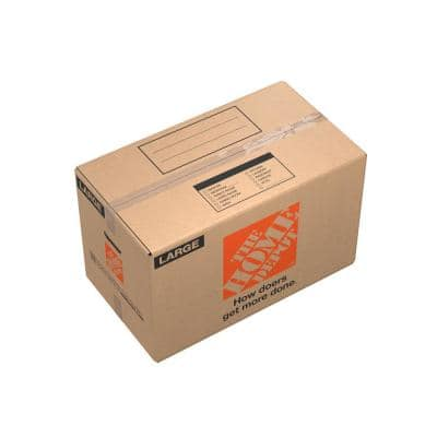 27 in. L x 15 in. W x 16 in. D Large Moving Box with Handles (10-Pack)
