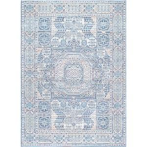Wonda Traditional Light Blue 5 ft. x 8 ft. Area Rug