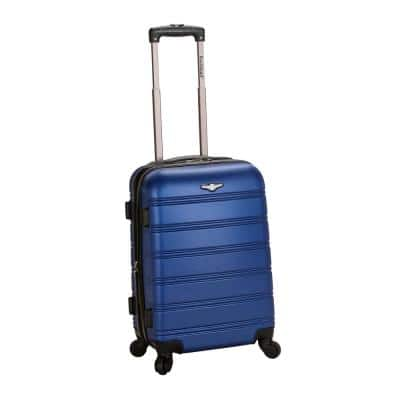 Melbourne 20 in. Expandable Carry on Hardside Spinner Luggage, Blue