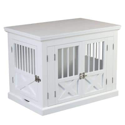 White Fairview Triple Door Dog Crate - Large