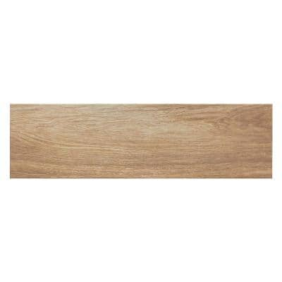 Oak Brown 7 in. x 24 in. Porcelain Floor and Wall Tile (19.38 sq. ft. / case)