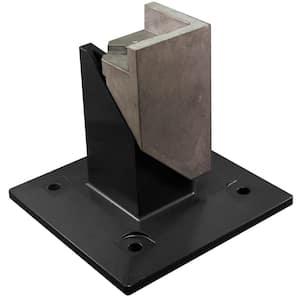 2 in. x 2 in. Black Metal Surface Mount