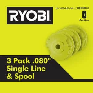 Replacement Twisted 0.080 in. Auto Feed Line Spools (3-Pack)