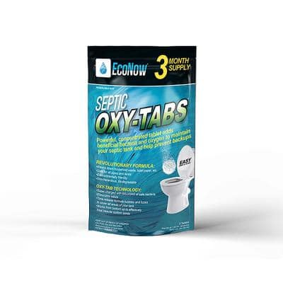Oxy-Tabs Septic Tank Treatment, Maintenance and Cleaner - 3 Month Supply
