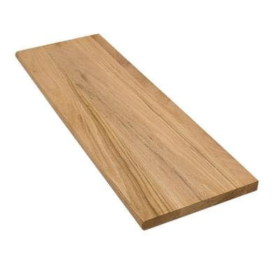 1 in. x 11.5 in. x 36 in. Unfinished Solid Builder Grade Red Oak Tread