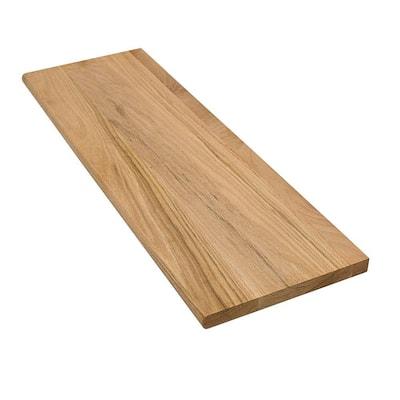 1 in. x 11.5 in. x 42 in. Unfinished Solid Builder Grade Red Oak Tread