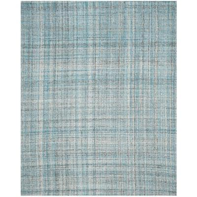 Abstract Blue/Multi 8 ft. x 10 ft. Solid Area Rug