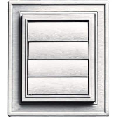 Square Exhaust Siding Vent #117-Bright White