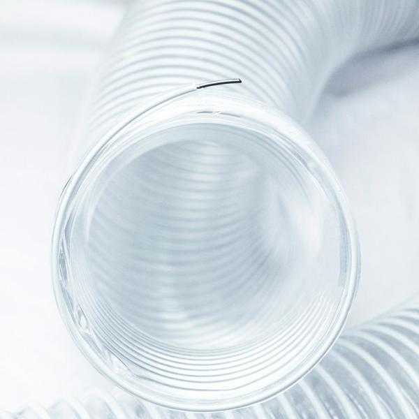 """2 1//2/"""" x 20/' Durable Super Flexible Clear Vacuum PVC Hose for Collecting Dust"""