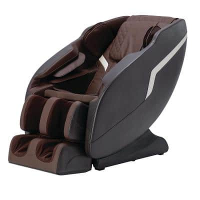Therapy Series Fitness and Wellness Zero Gravity Massage Chair with Multi-Therapy Programming in Brown