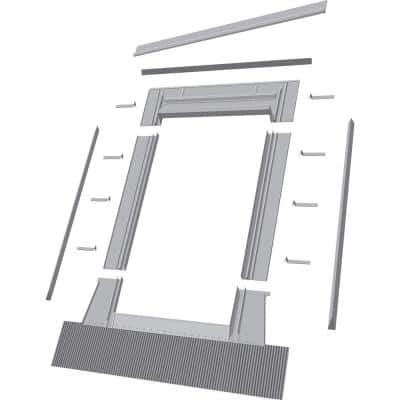 EH-C 22 in. x 46 in. (22/22, 22/30, 22/34, 22/46) Aluminum High-Profile Tile Roof Flashing Kit for Curb Mount Skylight