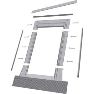 EH-C 22 in. x 70 in. Aluminum High-Profile Tile Roof Flashing Kit for Curb Mount Skylight