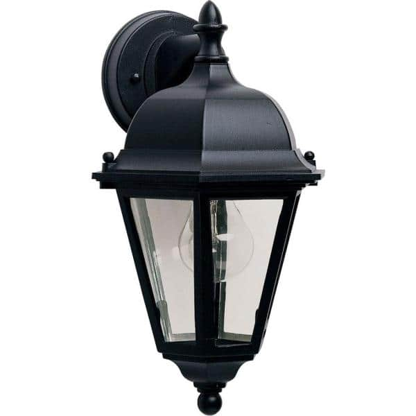 Maxim Lighting Westlake Dc 1 Light Black Outdoor Wall Lantern Sconce 1000bk The Home Depot
