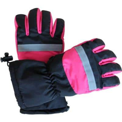 Pink and Black Women's Battery Heated Gloves