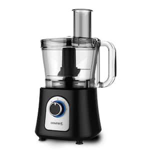 12-Cup 2-Speed Black Food Processor