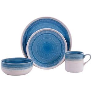 Hearth 16-Piece Casual Aqua Ceramic Dinnerware Set (Service for 4)