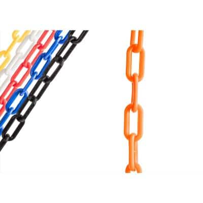 2 in. x 100 ft. Orange Plastic Chain Featuring SunShield UV Protection