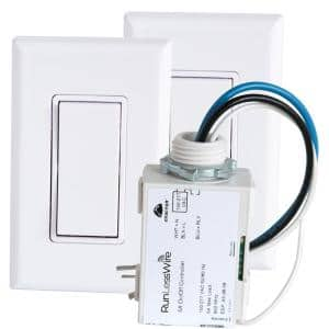 3-Way Wireless and Battery-Free Switch Kit For Lights (Includes 2 Single Rocker Switches and 1 Receiver)