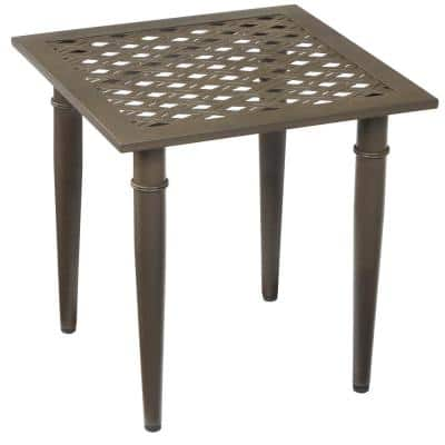 Oak Cliff Metal Outdoor Patio Side Table