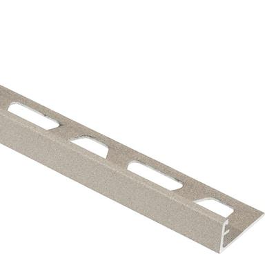 Jolly Cream Textured Color-Coated Aluminum 1/4 in. x 8 ft. 2-1/2 in. Metal Tile Edging Trim