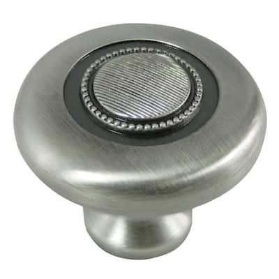 1-1/2 in. Satin Antique Nickel Vanilla Button Knob