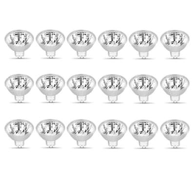 20-Watt Bright White (2800K) MR16 GU5.3 Bi-Pin Base Dimmable 12-Volt Halogen Light Bulb (18-Pack)