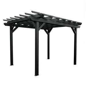 Bohdi 12 ft. x 10 ft. Black Plastic Pergola