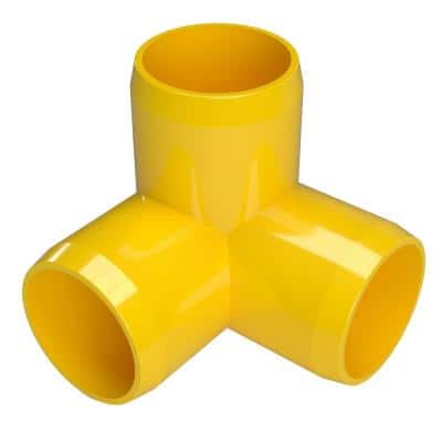 1/2 in. Furniture Grade PVC 3-Way Elbow in Yellow (10-Pack)