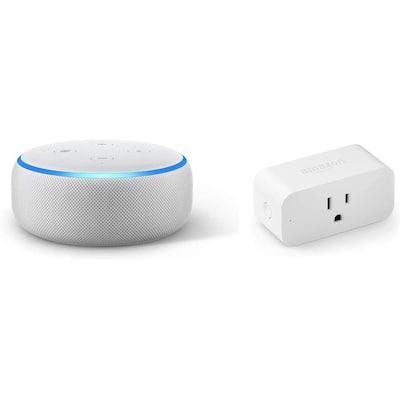 Echo Dot Plus Smart Plug Sandstone (Gen 3)