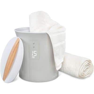 """Towel Warmer : Bucket Style Luxury Heater with LED Display, Adjustable Timer : Fits 40"""" x 70"""" Oversized Bath Sheet Towel"""