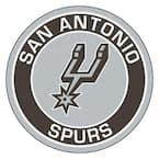 NBA San Antonio Spurs Black 2 ft. x 2 ft. Round Area Rug