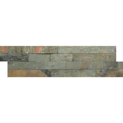Slate Rustic Gold 6.02 in. x 24.02 in. Slate Wall Tile (1.0 sq. ft.)