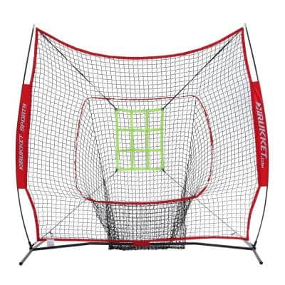 7 ft. x 7ft. Sock It Baseball and Softball Practice Net with Strike Zone