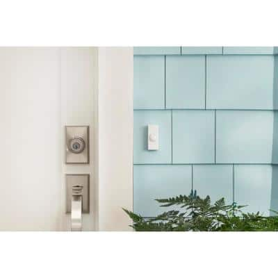 Wireless Battery Operated Door Bell Kit with 1-Push Button in White