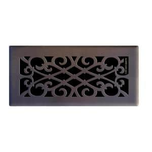 Decor Grates 4 In X 10 In Steel Floor Register In Antique Brass Sph410 A The Home Depot