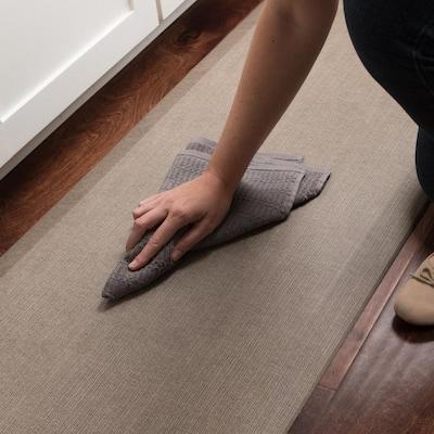 NewLife Designer Grasscloth Pecan 20 in. x 48 in. Anti-Fatigue Comfort Kitchen Mat