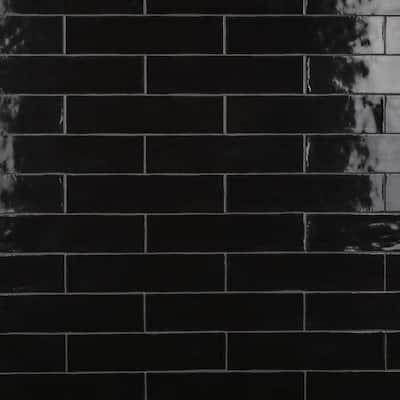Chester Nero 3 in. x 12 in. Ceramic Subway Wall Tile (5.93 sq. ft. / Case)