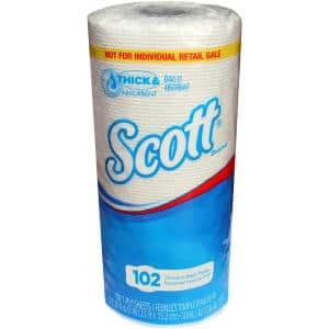 White 1-Ply Paper Towel Roll (102-Sheets per Roll, 24-Rolls per Pack)