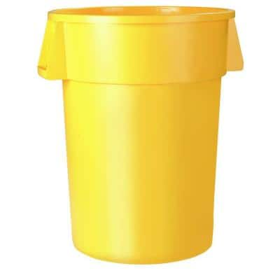 Bronco 10 Gal. Yellow Round Trash Can (6-Pack)