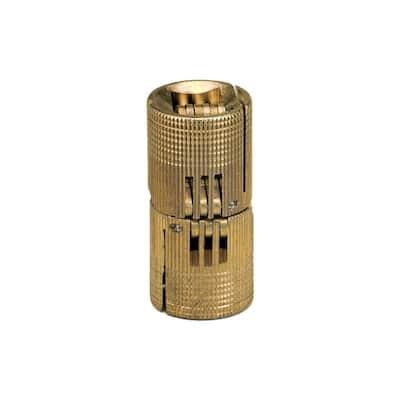 0.945 in. x 0.945 in. Solid Brass Barrel Hinge