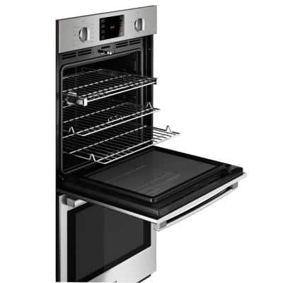 500 Series 27 in. Double Electric Wall Oven with European Convection and Self Cleaning in Stainless Steel