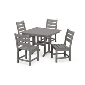 Grant Park Slate Grey Plastic 5-Piece Outdoor Dining Set with Side Chairs